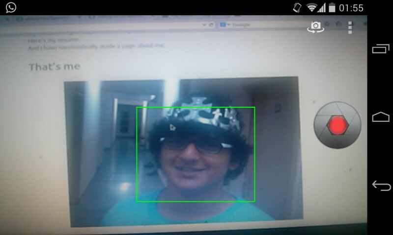 Face Detection using Android Camera Preview