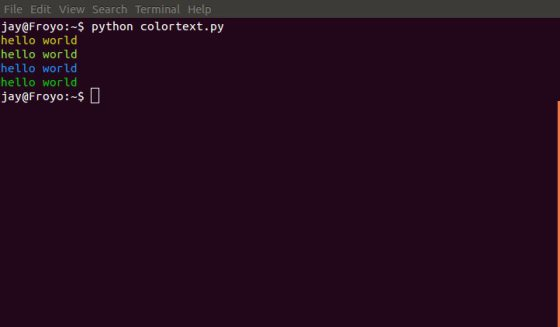 ANSII Color Formatting For Output In Terminal Using Python